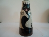 Tor Vale Pottery Vase with 'Lucky Black Cat'