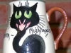 Tor Vale Pottery Jug with Cat described as 'Devon Nightingale'