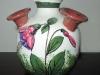 Fuchsia flower vase.