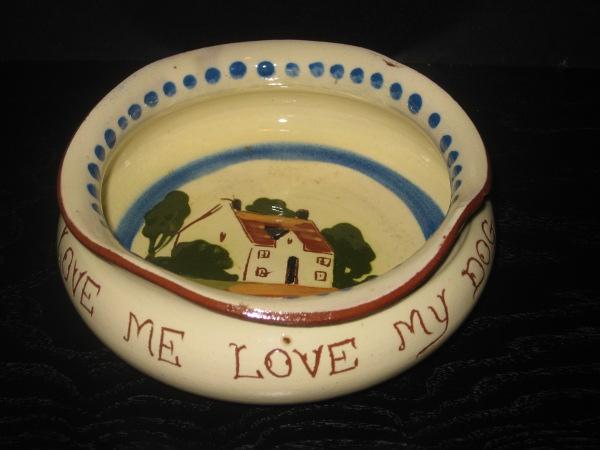Watcombe Pottery Dog Bowl