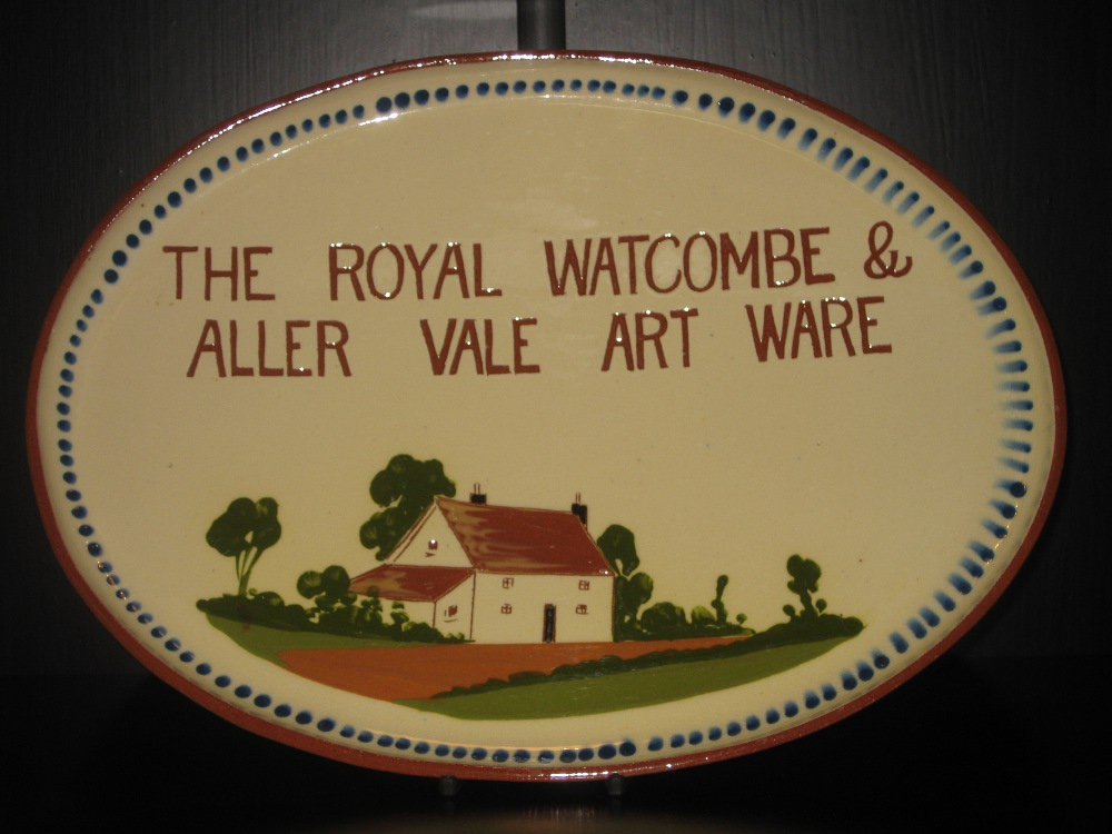 Watcombe Pottery Platter Advertising \'The Royal Watcombe and Aller Vale Art Ware\'