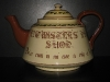 Watcombe Pottery Giant 16-pint Teapot, Motto side