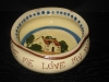 Watcombe Pottery Dog Bowl