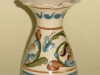 Watcombe Vase with flared rim and scrolls on cream ground, the Aller Vale B1 pattern