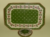Watcombe Dressing table Tray and covered Bowl in Ladybird pattern on green ground