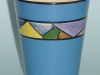 Watcombe Beaker with Art Deco pattern on blue ground
