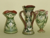 3 Watcombe pots in the D1 Art Nouveau pattern based on a Seedhead, one marked D1