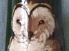 Watcombe Vase with Barn Owl, 12 ins