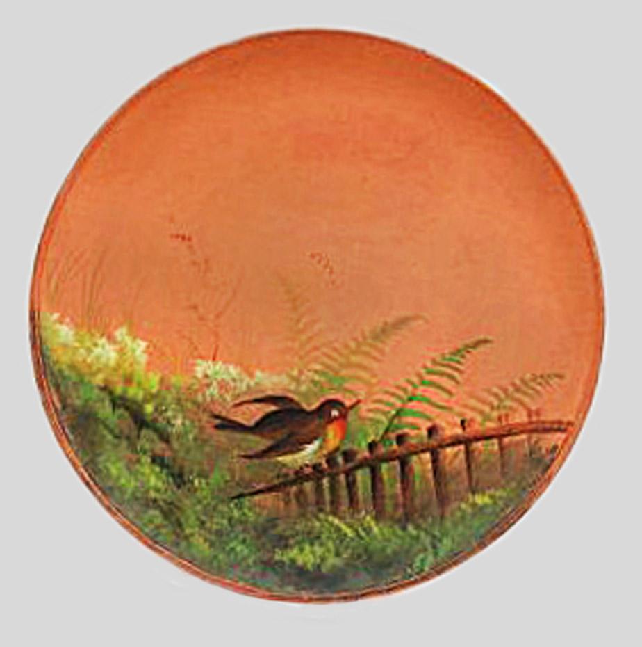 Watcombe painted terracotta plaque