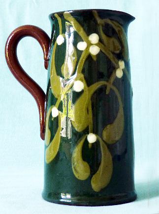 Fine unusual Mistletoe jug
