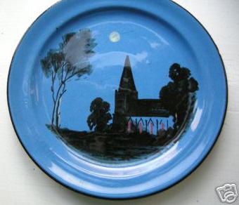 Barton Pottery moonlight scene