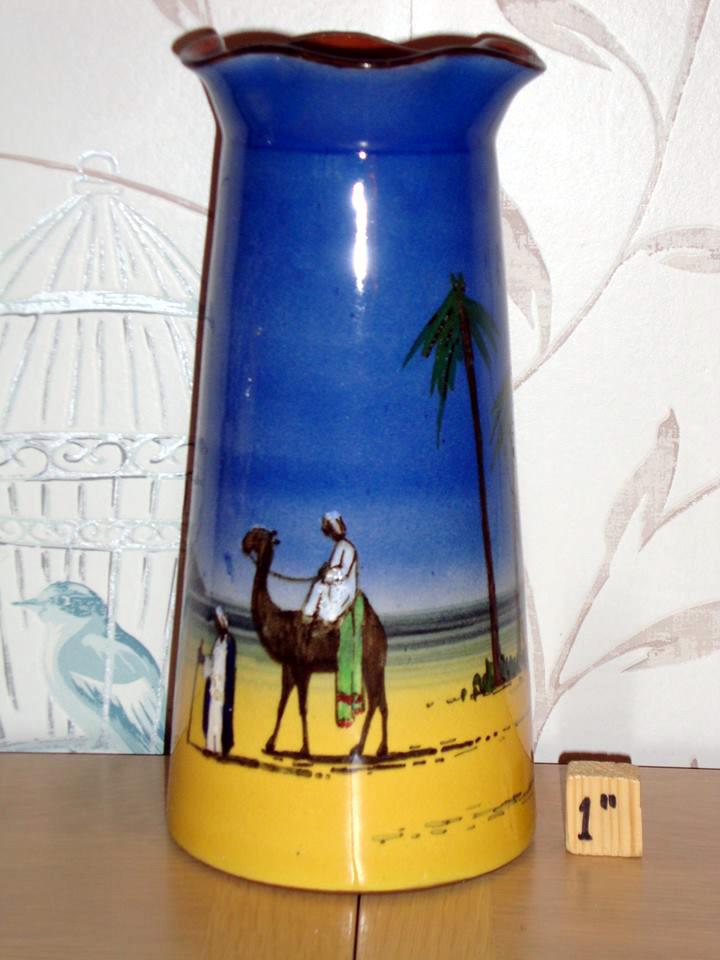 Tall desert scene vase
