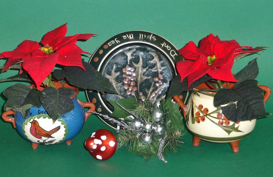 Christmas pottery composed