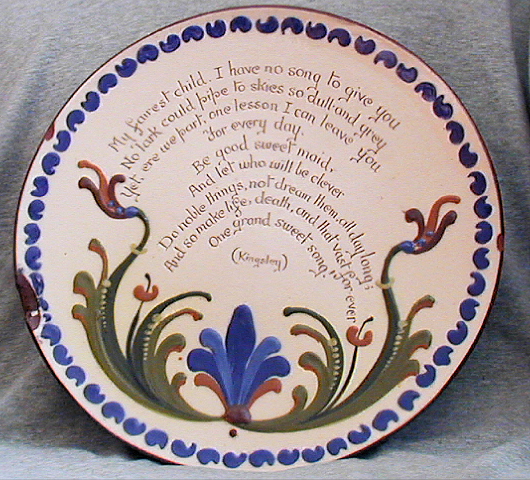 Longpark Poetry Plate