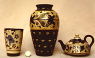 Three Aller Vale H1 pattern pots