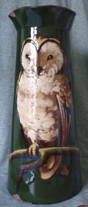 "Watcombe 12"" vase with rare Barn Owl decoration"
