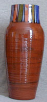 Bovey Tracey art deco design vase
